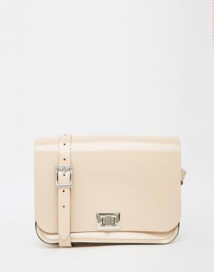 Leather Satchel Company Сумка Pixie. Цвет: бежевый