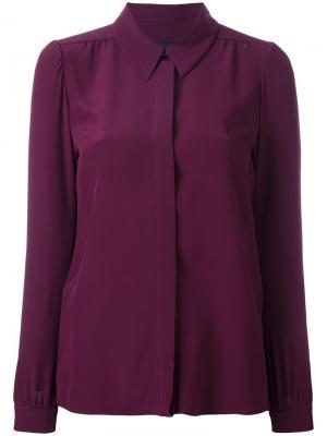 Классическая рубашка Vanessa Seward. Цвет: розовый и фиолетовый