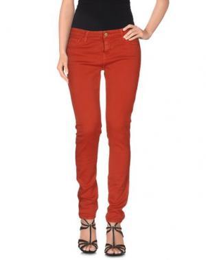 Джинсовые брюки ACQUAVERDE. Цвет: ржаво-коричневый