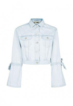Куртка джинсовая Topshop. Цвет: голубой
