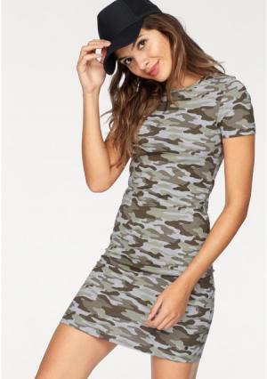Платье AJC. Цвет: серый меланжевый/хаки