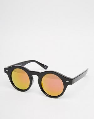 Trip Круглые солнцезащитные очки. Цвет: черный