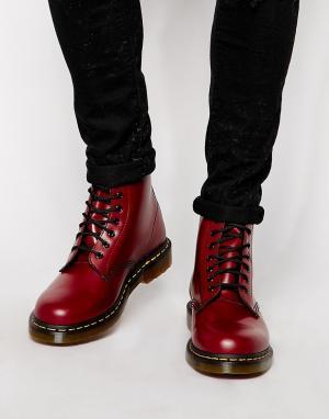 Dr Martens Ботинки с 8 парами люверсов Original. Цвет: красный