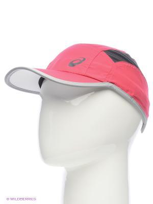 Бейсболка RUNNING CAP ASICS. Цвет: темно-красный