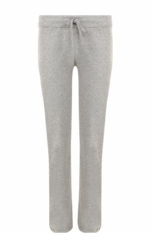 Хлопковые брюки с эластичным поясом James Perse. Цвет: серый