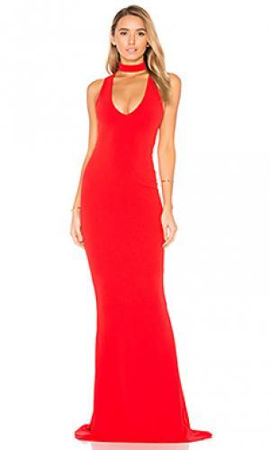 Вечернее платье diva Nookie. Цвет: красный