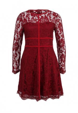 Платье Zalora. Цвет: бордовый
