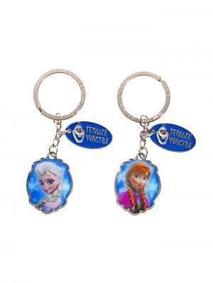 Брелоки (пара), Холодное сердце Disney. Цвет: синий, лазурный, серебристый