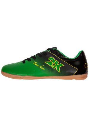 Бутсы футзальные Santos 2K. Цвет: зеленый, черный