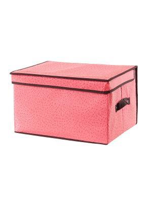 Кофр складной для хранения Звезды розовый EL CASA. Цвет: розовый