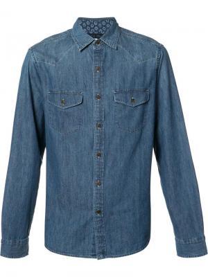 Классическая джинсовая рубашка Alex Mill. Цвет: синий