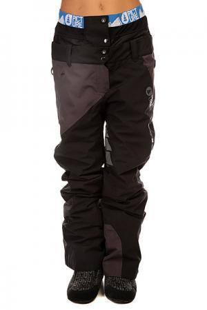 Штаны сноубордические женские  Feeling 2 Black Picture Organic. Цвет: черный