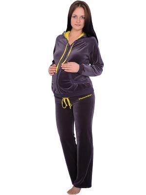 Спортивный костюм Flammber. Цвет: серый, желтый