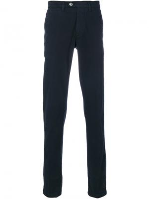 Classic chino trousers Corneliani. Цвет: синий