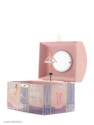 Музыкальная шкатулка с фигуркой в форме купола Jakos. Цвет: белый, голубой, фиолетовый, розовый
