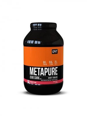 Протеин QNT  Metapure Zero Carb (клубника) 1 кг. Цвет: черный, белый, оранжевый