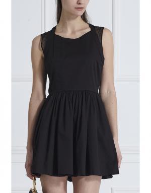 Хлопковое платье Thakoon. Цвет: черный