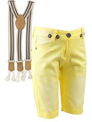 Шорты Nota Bene. Цвет: желтый