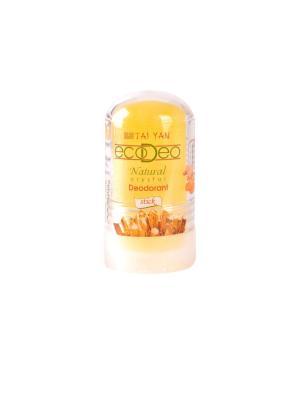 Дезодорант-крислалл  EcoDeo стик с Куркурмой, 60 гр. TAI YAN. Цвет: желтый