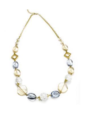 Ожерелье Bohemia Style. Цвет: светло-бежевый