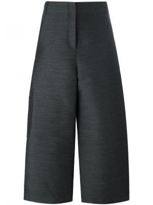 Укороченные  широкие брюки Ter Et Bantine. Цвет: серый