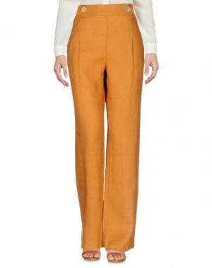 Повседневные брюки LA FABBRICA del LINO. Цвет: коричневый
