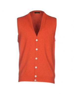 Кардиган OCTO. Цвет: оранжевый