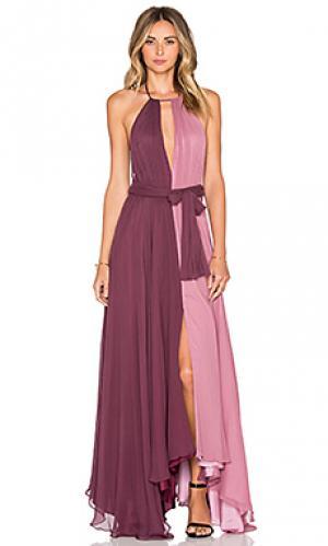 Вечернее платье с колорблок JILL STUART. Цвет: сиреневый