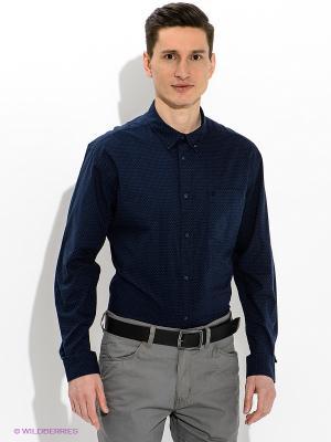 Рубашка Wrangler. Цвет: темно-синий