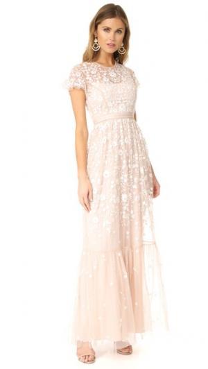 Вечернее платье из тюля Meadow Needle & Thread. Цвет: розовый лепесток