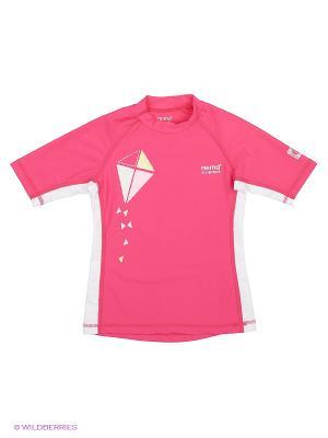 Футболка Reima. Цвет: розовый