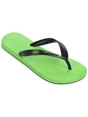 Шлепанцы Ipanema. Цвет: черный, белый, зеленый