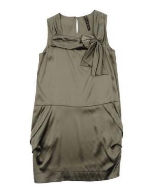 Платье MANILA GRACE. Цвет: зеленый-милитари