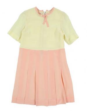 Платье MARNI. Цвет: светло-желтый