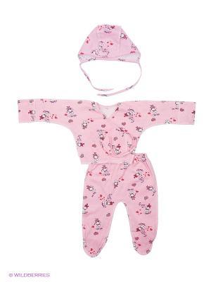 Комплект стерильного белья для новорожденного ФЭСТ. Цвет: розовый, красный