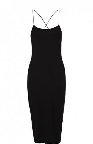 Облегающее платье на бретельках с открытой спиной T by Alexander Wang. Цвет: черный