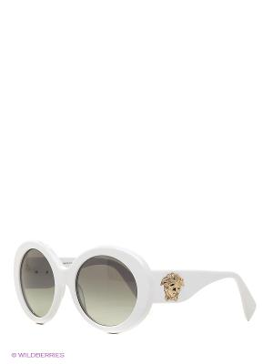 Очки солнцезащитные Versace. Цвет: белый