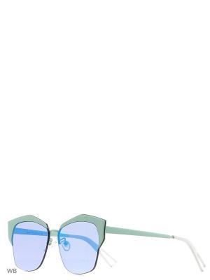 Солнцезащитные очки Vita pelle. Цвет: синий, зеленый