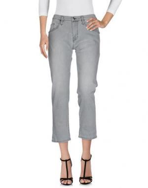 Джинсовые брюки CARLA G.. Цвет: серый
