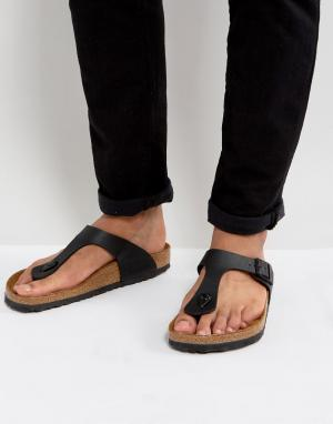 Birkenstock Черные сандалии. Цвет: черный