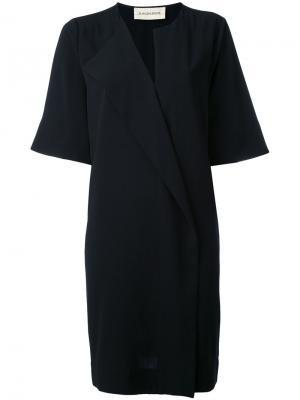 Платье с V-образным вырезом By Malene Birger. Цвет: чёрный
