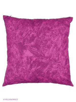 Подушка  Лиловый мрамор 45х45 см T&I. Цвет: лиловый