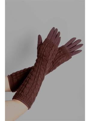 Перчатки Sophie Ramage. Цвет: коричневый