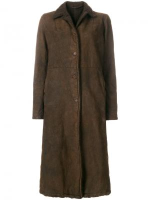 Пальто на пуговицах Salvatore Santoro. Цвет: коричневый