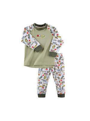Пижама для мальчика Наша Мама. Цвет: хаки