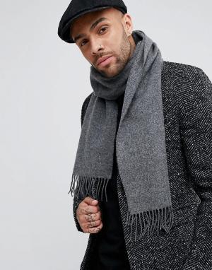 Glen Lossie Шерстяной шарф. Цвет: серый