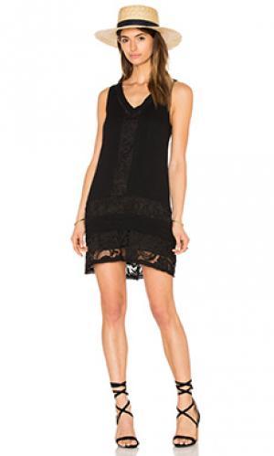 Мини платье rosa Sanctuary. Цвет: черный