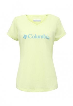 Футболка спортивная Columbia. Цвет: желтый