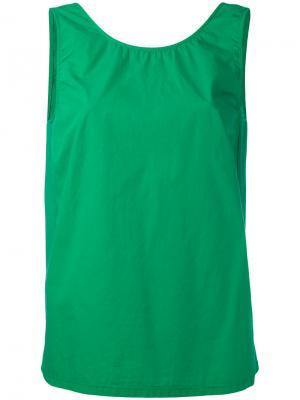 Классический топ Jucca. Цвет: зелёный