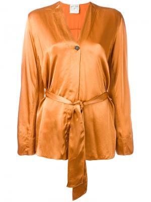 Пиджак с поясом Forte. Цвет: жёлтый и оранжевый